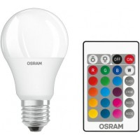 OSRAM LED pirn E27 9W 806lm 2700K+RGB, puldiga