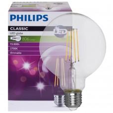 Philips LED bulb E27 8W 806lm 2700K CLASSIC GLOBE dimmable