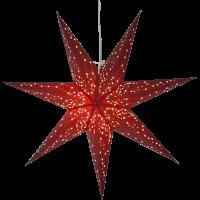 Rippuv valgusdekoratsioon GALAXY 60cm E14 pesaga punane
