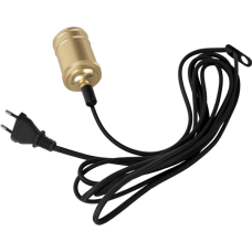 STAR pendant cord set E27 sockel VINTAGE brass/black