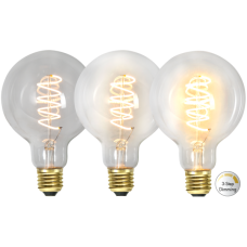LED pirn E27 4W 68/135/270lm 2100K DECOLED SPIRAL 3-STEP DIM