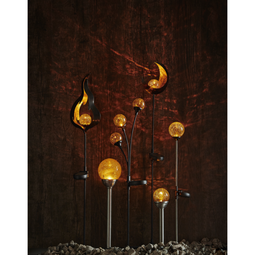 Solar Garden Led Light Life Fire 85x17cm Amber