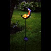Solar garden LED light LIFE 85x16cm amber