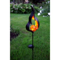 Päikesepatareiga vaivalgusti LIFE FLAME 85x17cm merevaigukollane