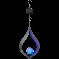 Päikesepatareiga rippvalgusti LIFE 18x32cm hõbedane/sinine