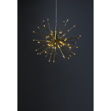 HANGING DECORATION FIREWORK TWINKLE 40CM 80LED GOLDEN