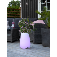 Remote control  flower pot with LED lights TWILIGHTS  40cm 2in1-color changing +white