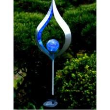 Päikesepatareiga aiavalgusti LIFE 18x85cm hõbedane/sinine