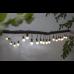 Lightchain with white LED balls DECO 8.6m 20LED 6W