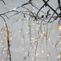 STAR CURTAIN LIGHTS ICICLE 4x0.4m 144LED transparent