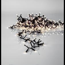 Valguskett SERIE LED 11m 540LED must kaabel adapteriga, soe valge