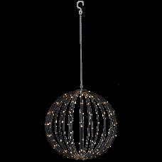 Valgusdekoratsioon WIREBALL 50cm 198LED must-8 vilkumisrežiimi