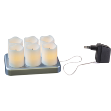 Rechargeable LED candle VOTIVE 6-pack