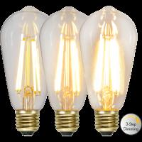LED bulb E27 6.5W 70/350/700lm 2100K BIRDCAGE 3-STEP DIM