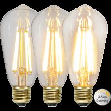 LED pirn E27 6.5W 70/350/700lm 2100K BIRDCAGE 3-STEP DIM