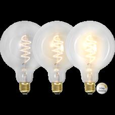 LED bulb E27 4W 68/135/270lm 2100K GLOBE SPIRAL 3-STEP DIM
