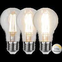 LED bulb E27 6.5W 3000K 80/400/800lm 3-StepDim