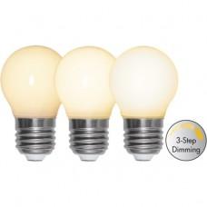 LED bulb  GolfBall E27 4W 2700K 35/175/350lm 3stepDim