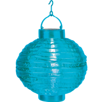 Solar pendant LED light LATERN 20cm Turquoise-Blue
