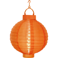 Solar pendant LED light LATERN 20cm orange