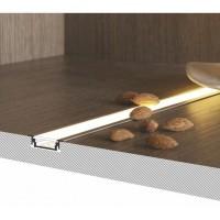 Süvistatav mööbli LED profiil 24(18)x7(6,2)mm, anodeeritud alumiinium 2m