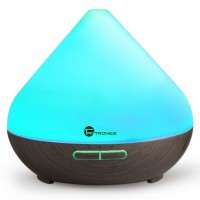 Meeleolulamp AQUA 300ml, 7 valgustooni, värv - puidumustiga must
