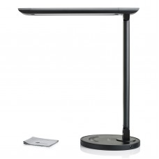 Desk Lamp iLUNA 7-Level Dimmer, 5 Light Color Modes, Touch-Sensitive Control Panel, 5V/1A USB Charging Port - Black