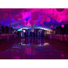 Valguskett PARTY FESTOON 50m 100xE27 sokliga IP44, must