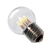 LED pirn GolfBall E27 1W 190° 50lm 2700K 6LEDi soe valge