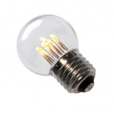LED bulb GolfBall E27 1W 190° 50lm 2700K 6LED warm white