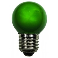 LED bulb GolfBall E27 1W 190° green