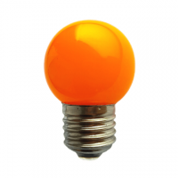 LED bulb GolfBall E27 1W 190° orange