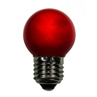LED bulb GolfBall E27 1W 190° red