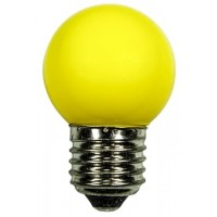 LED bulb GolfBall E27 1W 190° yellow
