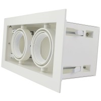 BOX LIGHT DOUBLE GU10 adjustable fixture set, white