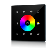 DMX wall panel for RGBW Multicolor LED black