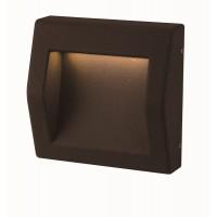 LED seinavalgusti BLOCK pinnapealne IP54 4W 100lm 3000K, must